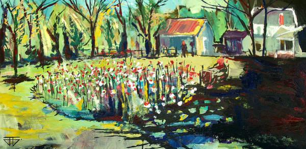 Painting - Backyard Poppies by John Jr Gholson