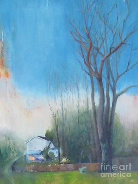 Painting - Backyard Tree At Sunset by Linda Anderson