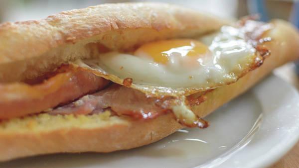 Photograph - Bacon Egg Baguette A by Jacek Wojnarowski