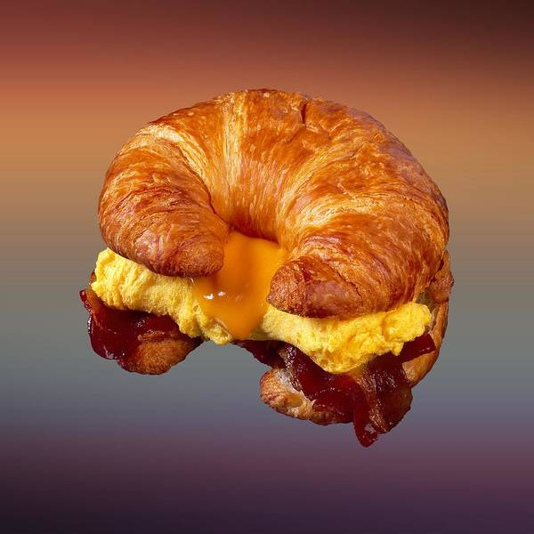 Digital Art - Bacon Egg Cheese Croissant  by Movie Poster Prints