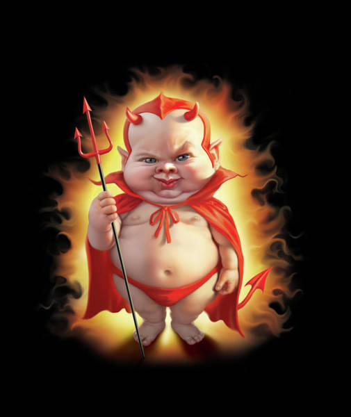 Bad Wall Art - Digital Art - Bad Baby by Mark Fredrickson