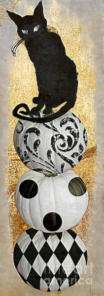 Wall Art - Painting - Bad Cat Halloween by Mindy Sommers