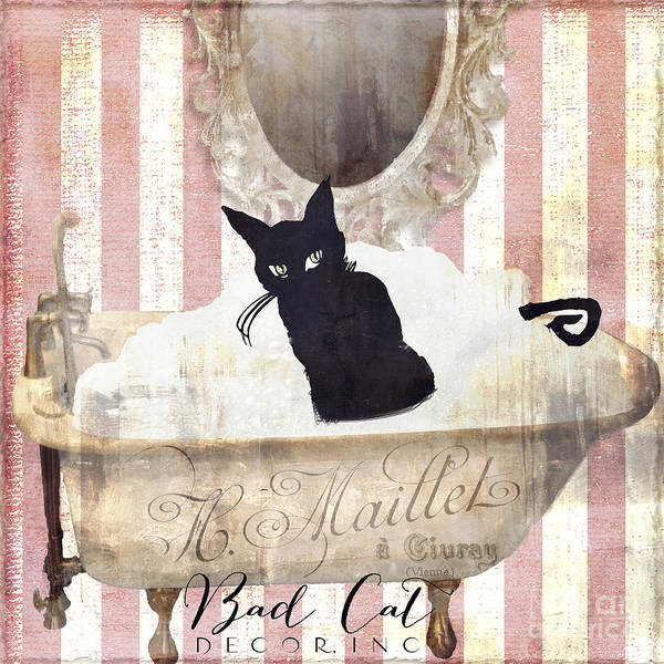 Black Cat Painting - Bad Cat I by Mindy Sommers