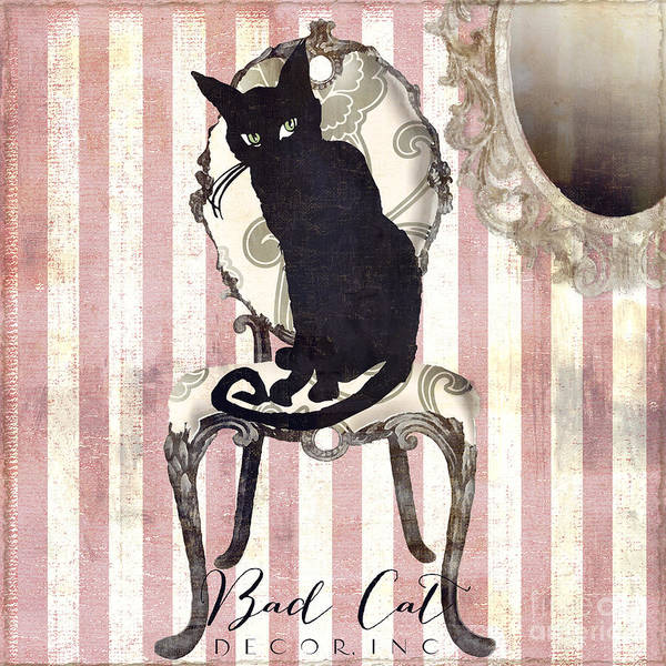 Chat Painting - Bad Cat II by Mindy Sommers