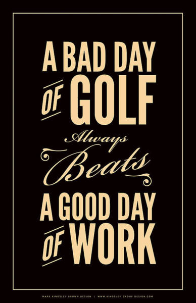 Golfing Digital Art - Bad Day Of Golf by Mark Kingsley Brown