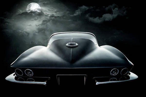 Wall Art - Digital Art - Black Corvette by Douglas Pittman
