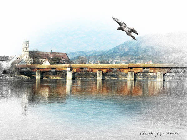 Painting - Bad Sackingen On The Rhine by Chris Armytage
