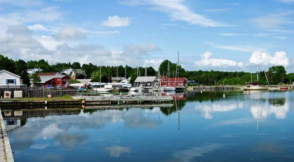 Digital Art - Baddeck Harbor Panorama by Gene Norris