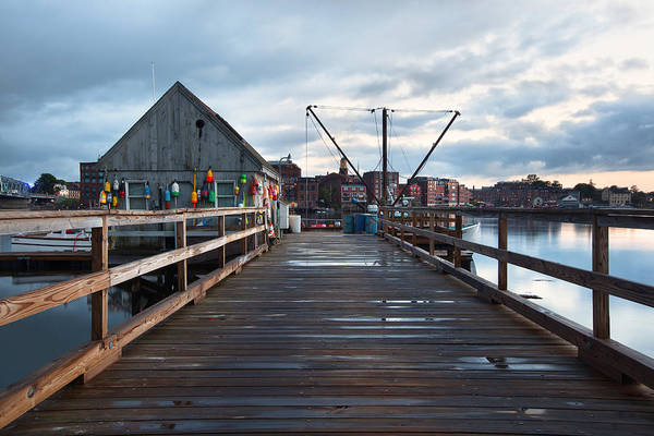 Wall Art - Photograph - Badgers Island Docks by Eric Gendron