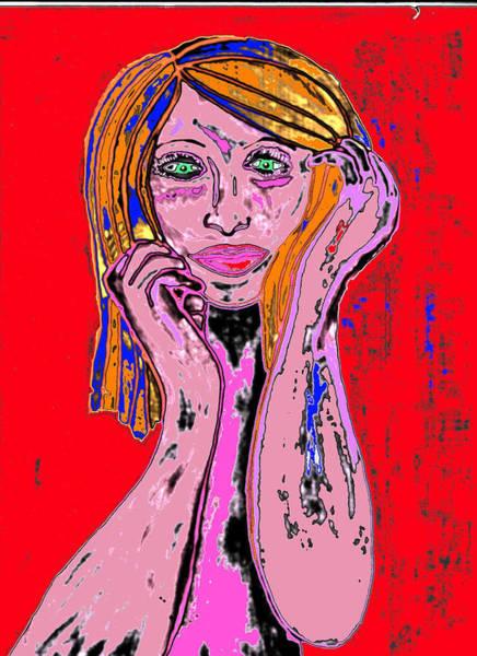 Badgirl Art Print