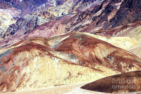 Photograph - Badland Colors In Death Valley by John Rizzuto