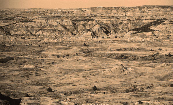 Photograph - Badlands #2 Sepia by Frank Romeo
