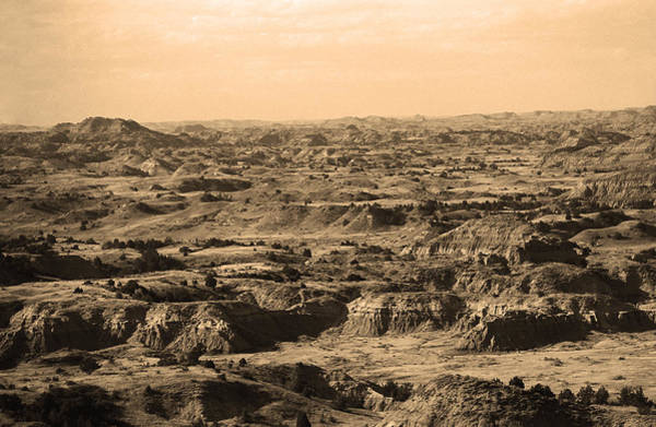 Photograph - Badlands #3 Sepia by Frank Romeo