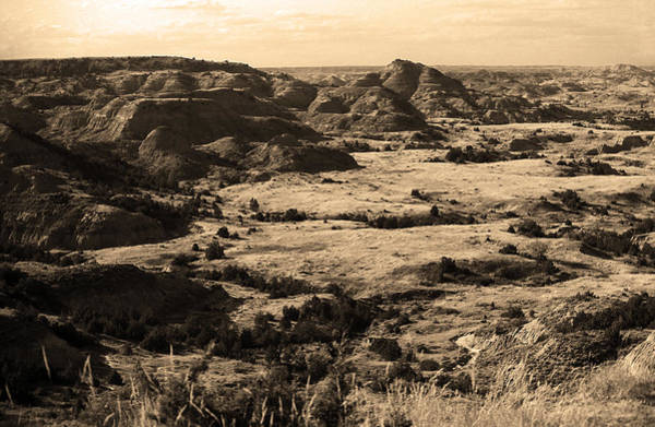 Photograph - Badlands #4 Sepia by Frank Romeo