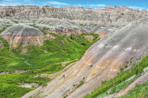 Photograph - Badlands Canyons And Valleys by John M Bailey