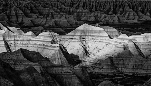 Photograph - Badlands In Contrast by Andy Crawford