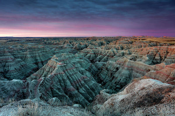 Photograph - Badlands In The Morning by CA Johnson
