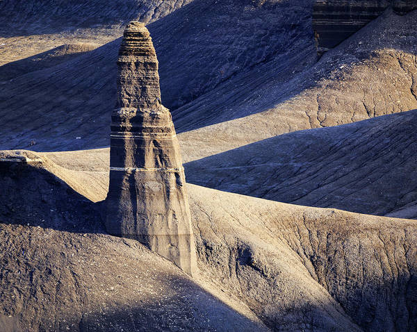 Desert View Tower Photograph - Badlands Monolith by Johnny Adolphson