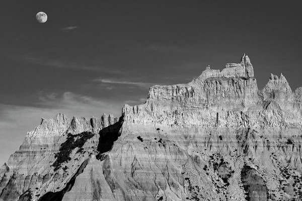 Photograph - Badlands Moon Rising by Andy Crawford