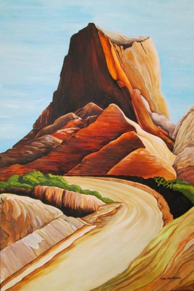 Wall Art - Painting - Badlands National Park by Carol Sabo