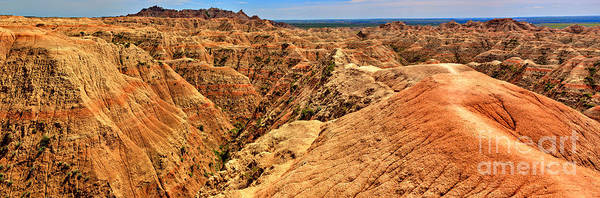 Photograph - Badlands National Park Panorama by Adam Jewell