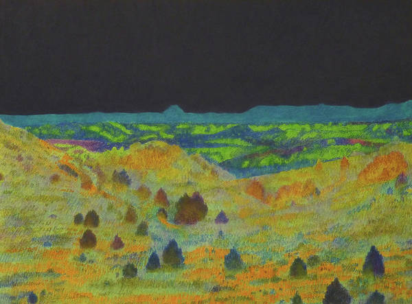 Painting - Badlands Nocturne by Cris Fulton