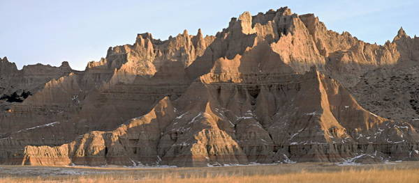 Photograph - Badlands Panorama by Larry Ricker