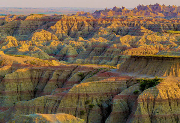 Photograph - Badlands Stripes And Sunrise Path by Patti Deters
