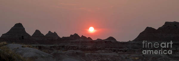 Photograph - Badlands Sunset by Jim West