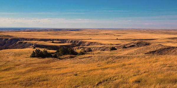 Dakota Photograph - Badlands Vi Panoramic by Tom Mc Nemar