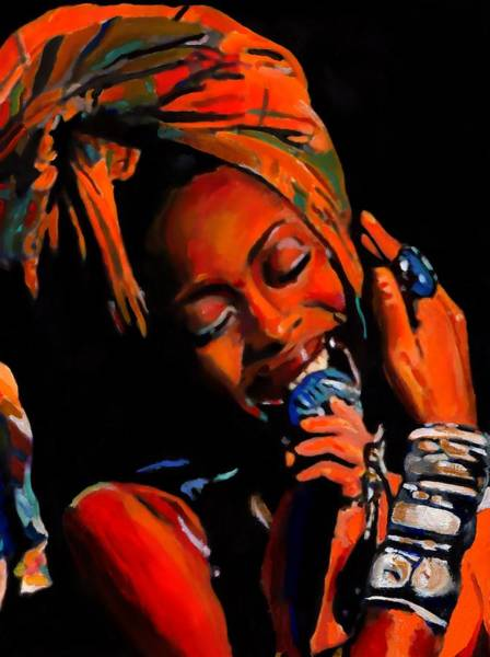Keyboards Painting - Badu by Vel Verrept