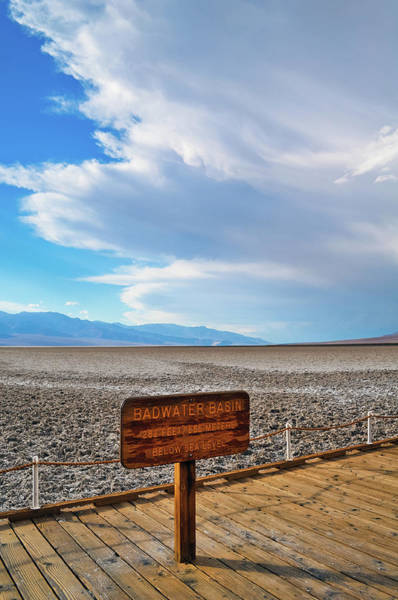 Photograph - Badwater Basin Portrait by Kyle Hanson