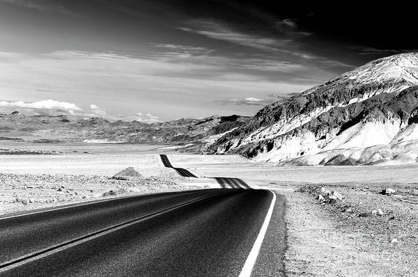 Photograph - Badwater Road In Death Valley by John Rizzuto