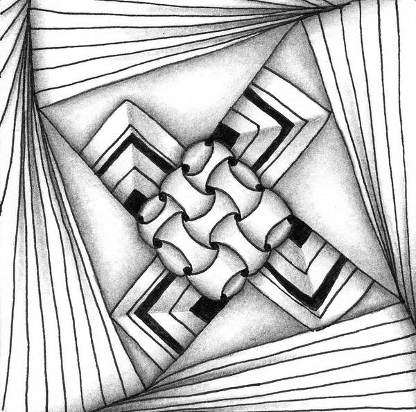 Drawing - Baecube String by Jan Steinle