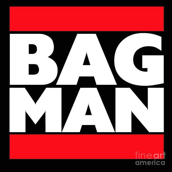 Donegal Digital Art - Bag Man by Eddie Barron