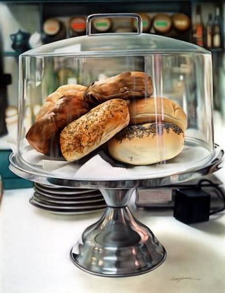 Wall Art - Painting - Bagel Daze by Keith  Goodson