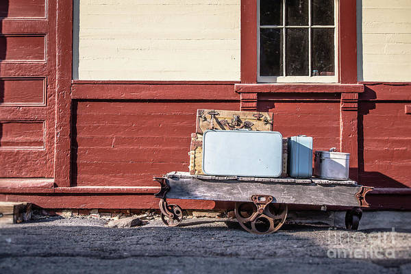 Wall Art - Photograph - Baggage Cart At An Old Train Station by Edward Fielding