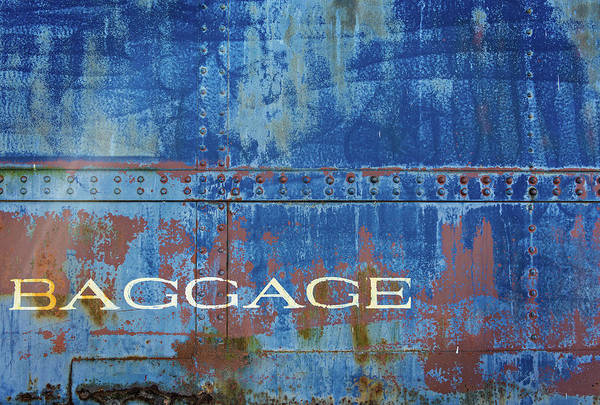 Photograph - Baggage In Blue by Bud Simpson