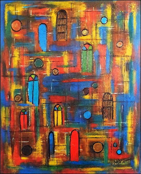 Baghdad Painting - Baghdad, War And Peace by Siran Ajil