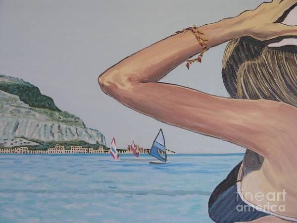 Wall Art - Painting - bagnante a Mondello by Leonardo Albanese