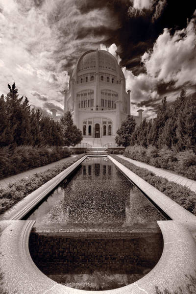 Wall Art - Photograph - Bahai Temple Reflecting Pool by Steve Gadomski
