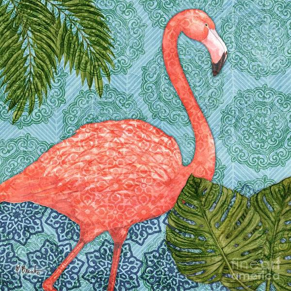 Flamingos Wall Art - Painting - Bahama Flamingo I by Paul Brent