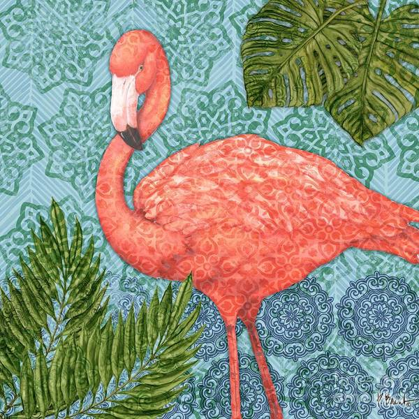 Flamingos Wall Art - Painting - Bahama Flamingo II by Paul Brent