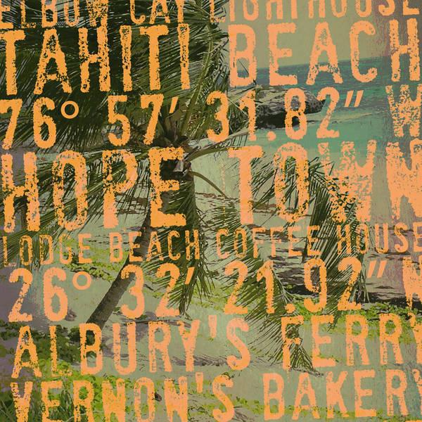 Town Square Digital Art - Bahamas Beach V2 by Brandi Fitzgerald