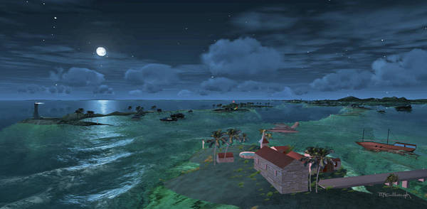 Bahamas Digital Art - Bahamas In The Moonlight by Duane McCullough