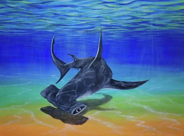 Hammer Head Shark Wall Art - Painting - Bahamas  by Rocio Gajon Bunker