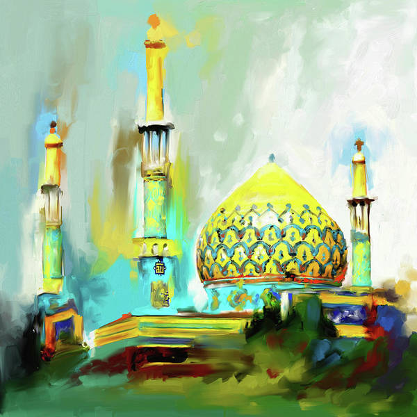 Wall Art - Painting - Bahman Mosque 687 1 by Mawra Tahreem