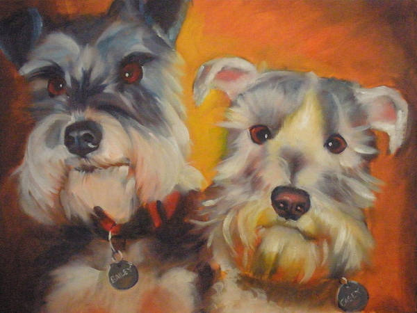Wall Art - Painting - Bailey And Casey by Kaytee Esser
