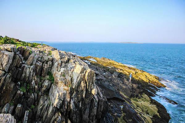 Bailey's Beach Photograph - Bailey Island Cliffs  by Debra Forand