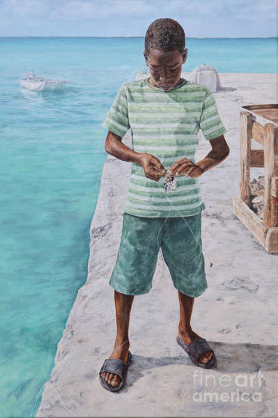 Painting - Baiting Up by Roshanne Minnis-Eyma